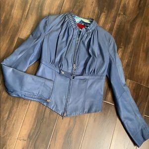 Jackets & Blazers - Blue Leather Corset Jacket